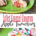 Salted Caramel Cinnamon Apple Turnovers