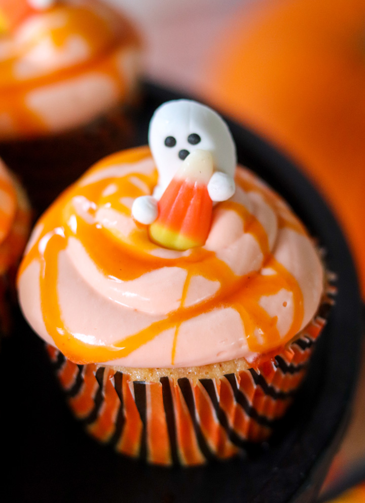 Candy Corn Cupcakes with real Candy Corn Frosting