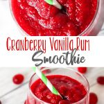 Cranberry Vanilla Rum Smoothie