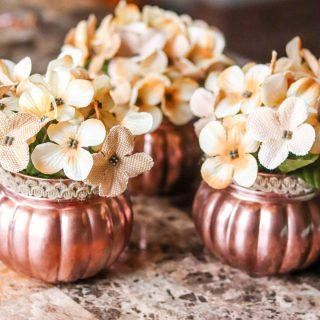 DIY Dollar Tree Fall Floral Centerpiece for Thanksgiving