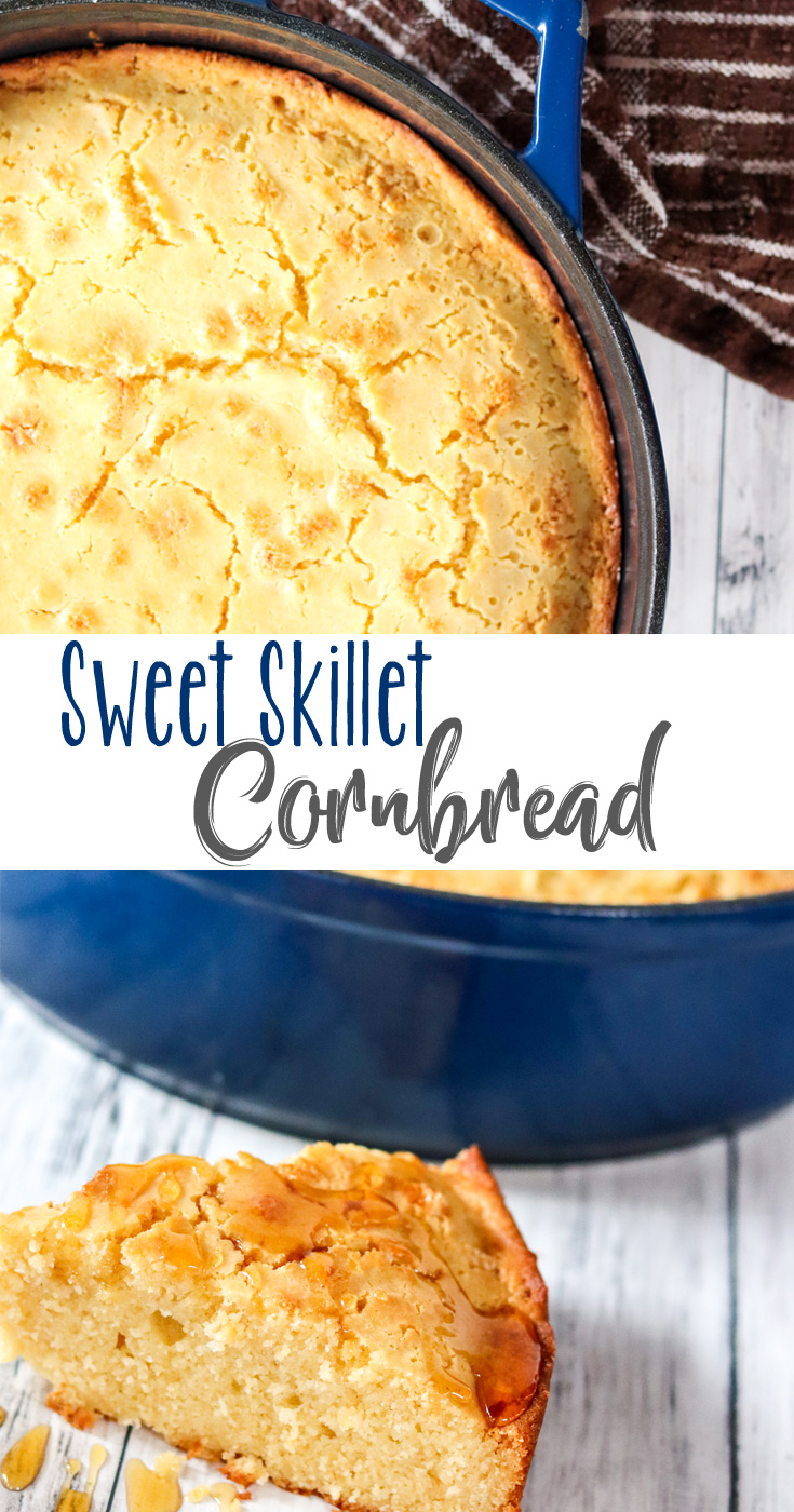Sweet Skillet Cornbread enhances the delicious naturally sweet flavor of corn by adding honey and making a much softer, more moist and sweet cornbread. It'll make a cornbread lover out of you after-all.