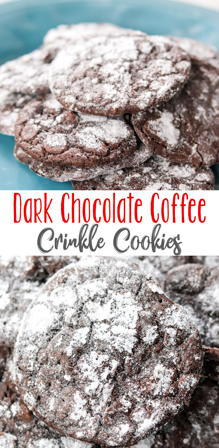 RichDark Chocolate Coffee Crinkle Cookies are crisp on the outside, soft and chewy on the inside and incredibly decadent.
