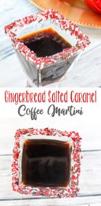 Gingerbread Salted Caramel Coffee Martini