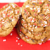 Gingerbread Sprinkle Cookies