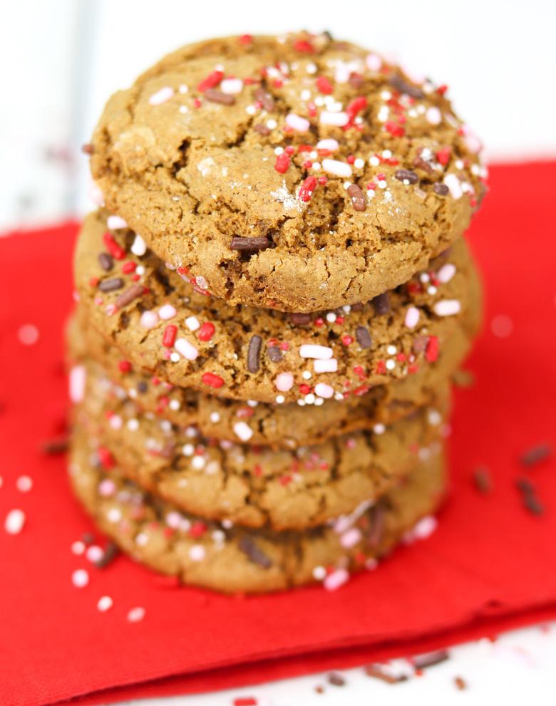 Gingerbread Sprinkle Cookies
