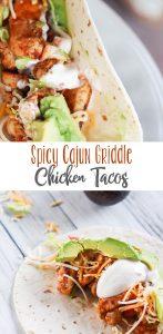 Spicy Cajun Griddle Chicken Tacos