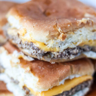 copycat White Castle Cheeseburger Sliders