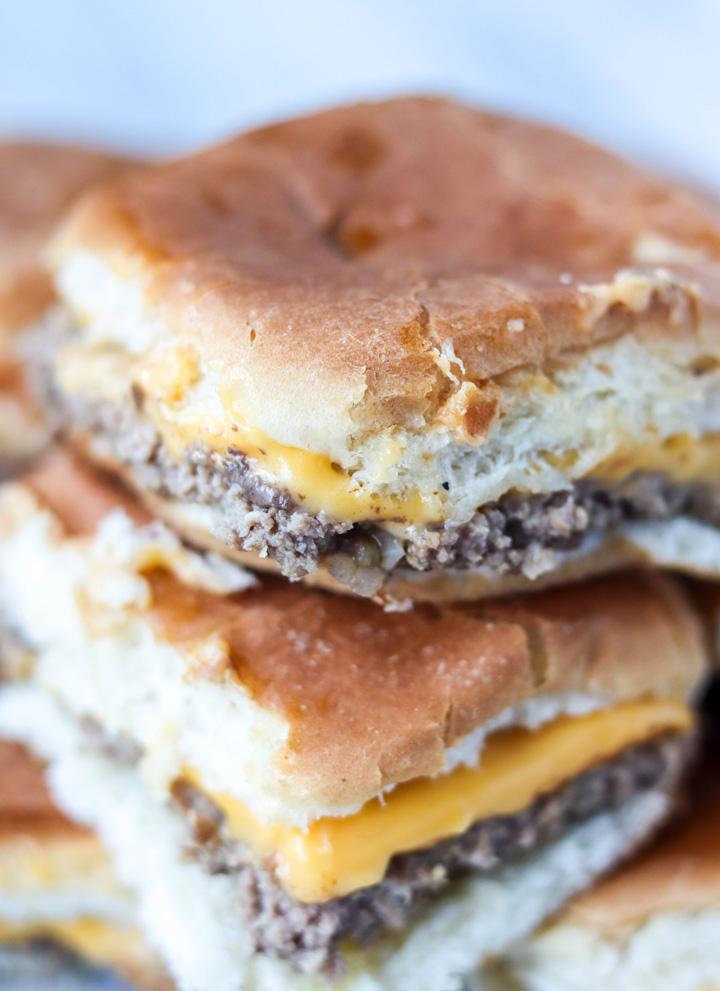 copycat White Castle Cheeseburger Sliders