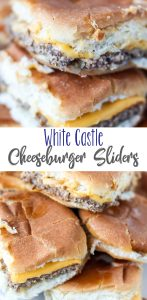 White Castle Cheeseburger Sliders