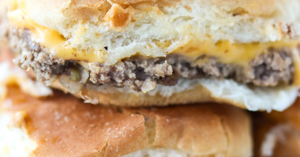 White Castle Cheeseburger Sliders   Daily Dish Recipes