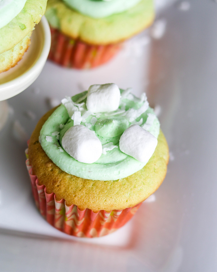 Easy Pistachio Cupcakes with Pistachio Frosting