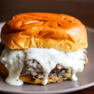 Garlic Overload Burger with Creamy Garlic Sauce