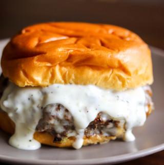 Garlic Overload Burger with Creamy Garlic Sauce