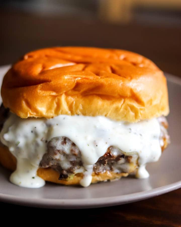 Garlic Overload Burgers with Creamy Garlic Burger Sauce