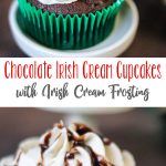 Chocolate Irish Cream Cupcakes with Irish Cream Frosting