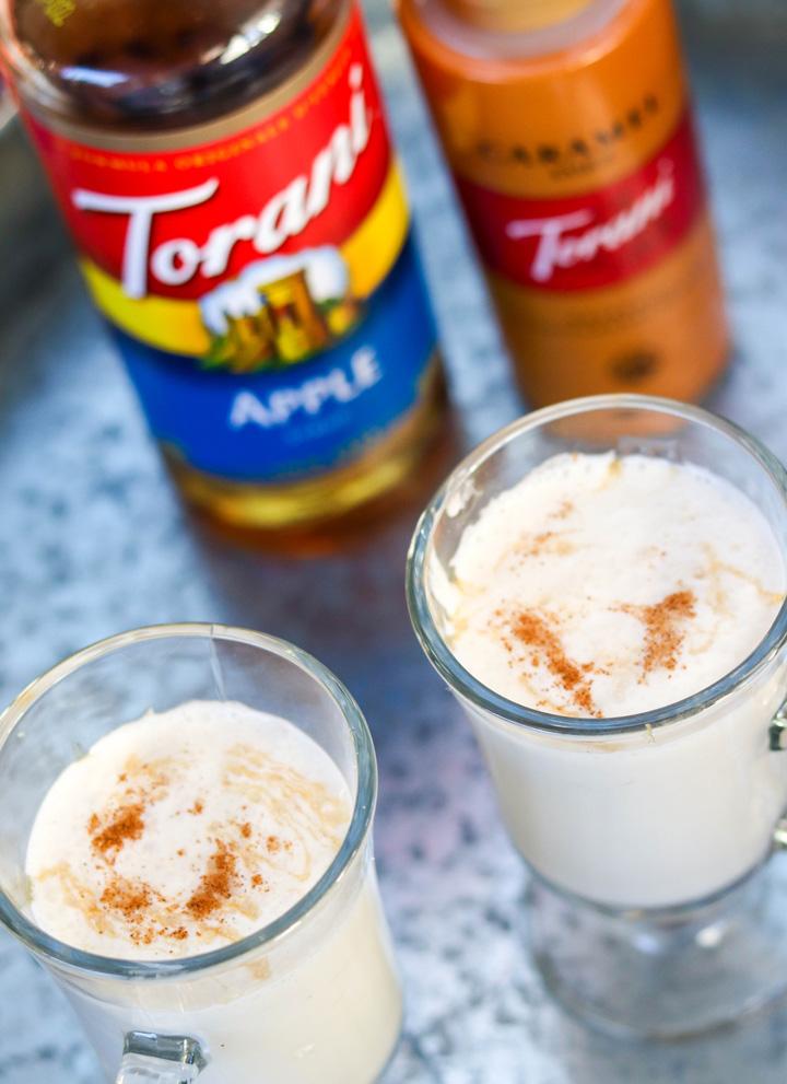 Hot Caramel Apple Cream Drink