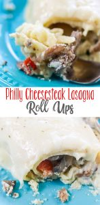 Philly Cheesesteak Lasagna Roll Ups