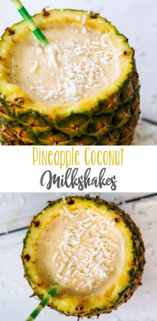 Pineapple Coconut Milkshakes