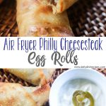 Air Fryer Philly Cheesesteak Egg Rolls PIN