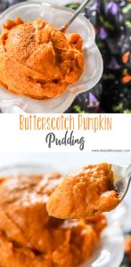 Butterscotch Pumpkin Pudding