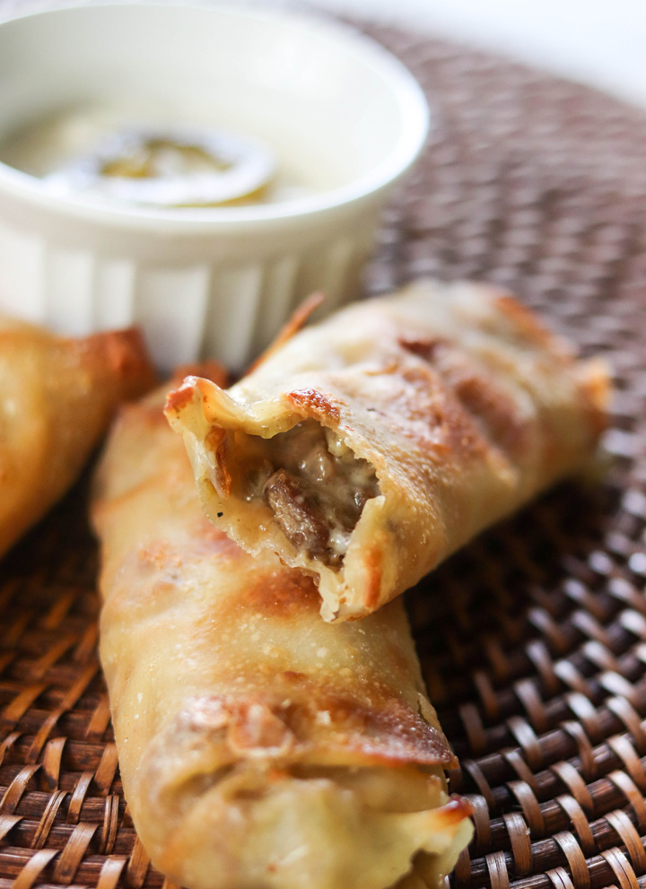 Philly Cheesesteak Egg Rolls