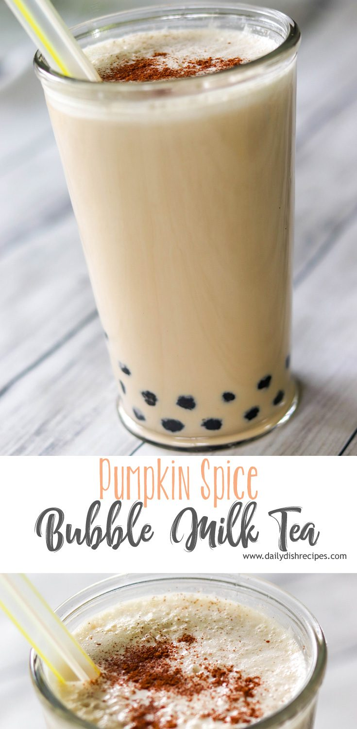 If you love bubble milk tea, you'll absolutely love this fantastic recipe for Pumpkin Spice Bubble Milk Tea with Boba. Black tea, pumpkin and spices combine for a creamy, delicious drink you'll crave all autumn long.