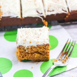 Pumpkin Spice Sheet Cake