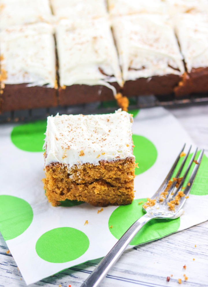 Pumpkin Spice Sheet Cake