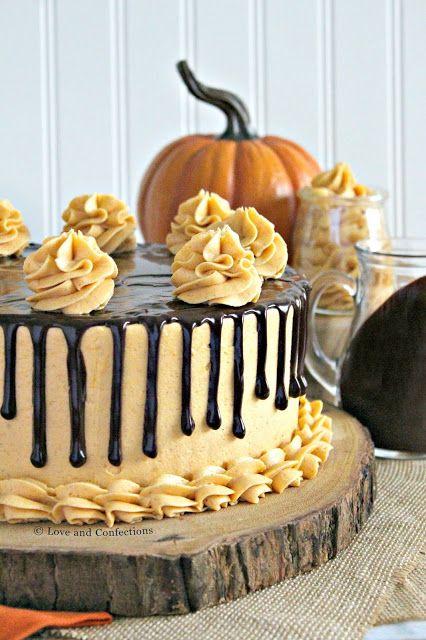 Chocolate Pumpkin Drip Cake