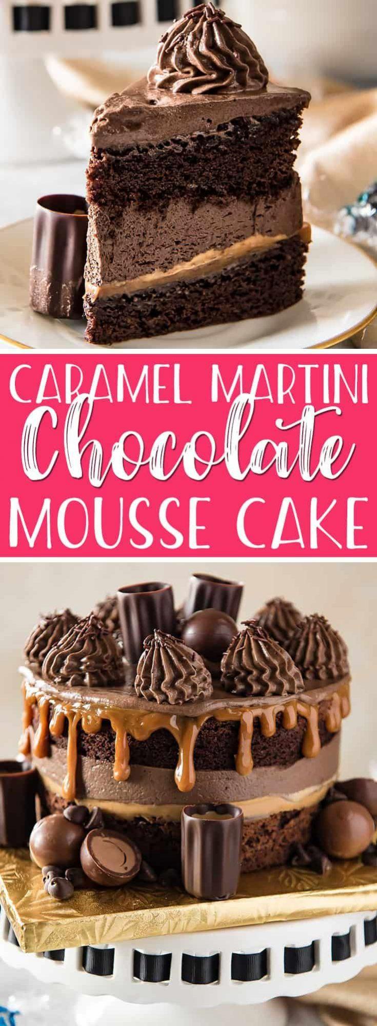 Caramel Martini Chocolate Mousse Cake