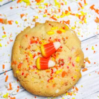 Candy Corn Sprinkle Cookies