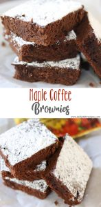 Maple Coffee Brownies