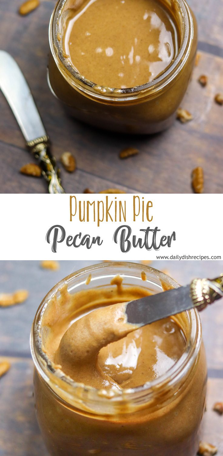 Creamy, slightly sweet, slightly spiced Pumpkin Pie Pecan Butter is decadent as a spread, and adds so much flavor as a mix in. This will quickly become your favorite.