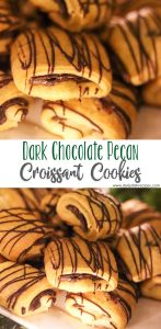 Dark Chocolate Pecan Croissant Cookies