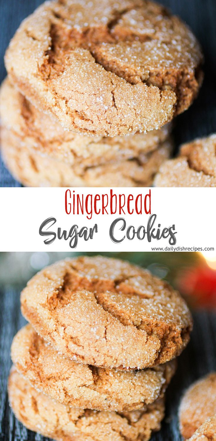 This is my favorite Gingerbread Sugar Cookies recipe! These cookies are incredibly soft and chewy and they have just the right amount of spices and rich molasses flavor. They are very easy to make, the dough is easy to work with and they look beautiful nestled among all the traditional holiday cookies.