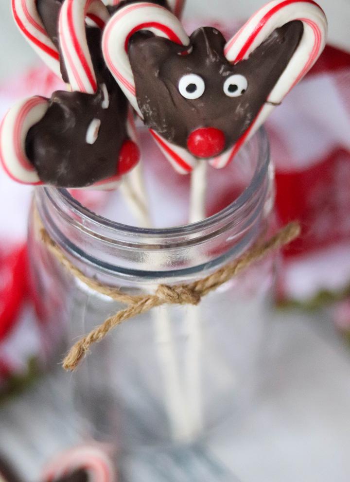 Reindeer Candy Cane Pops