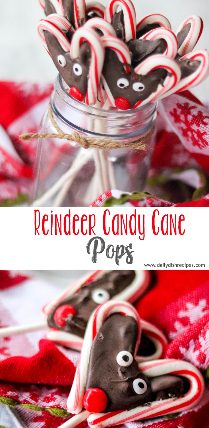 These adorable Reindeer Candy Cane Pops are so much fun to make with kids. We whipped these up for Christmas and they were a huge hit, plus they taste great.