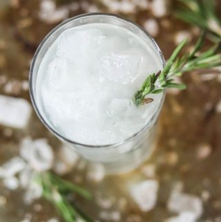 Skinny Rosemary Lime Vodka Fizz