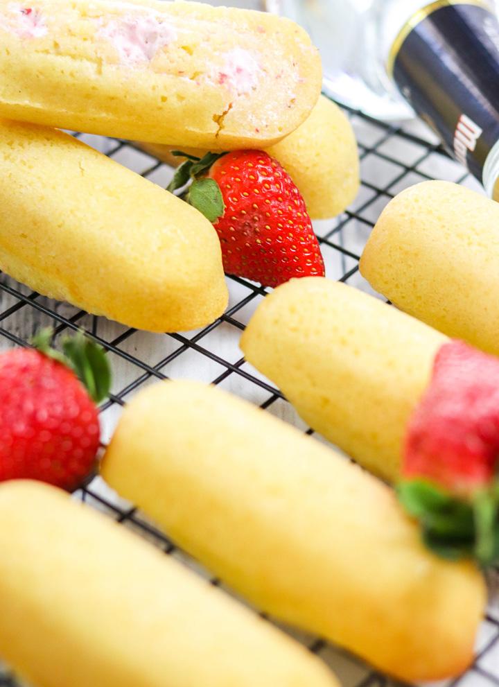Boozy Strawberry Margarita Twinkies