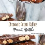 Chocolate Peanut Butter Peanut Brittle