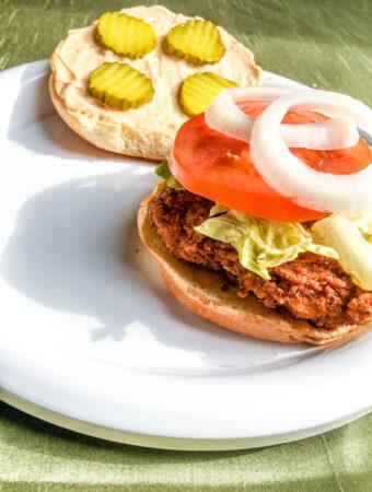 Air Fryer Spicy Chicken Sandwiches