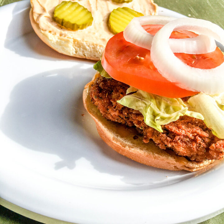 Air Fryer Spicy Chicken Sandwiches