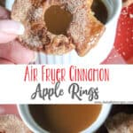 Air Fryer Cinnamon Apple Rings