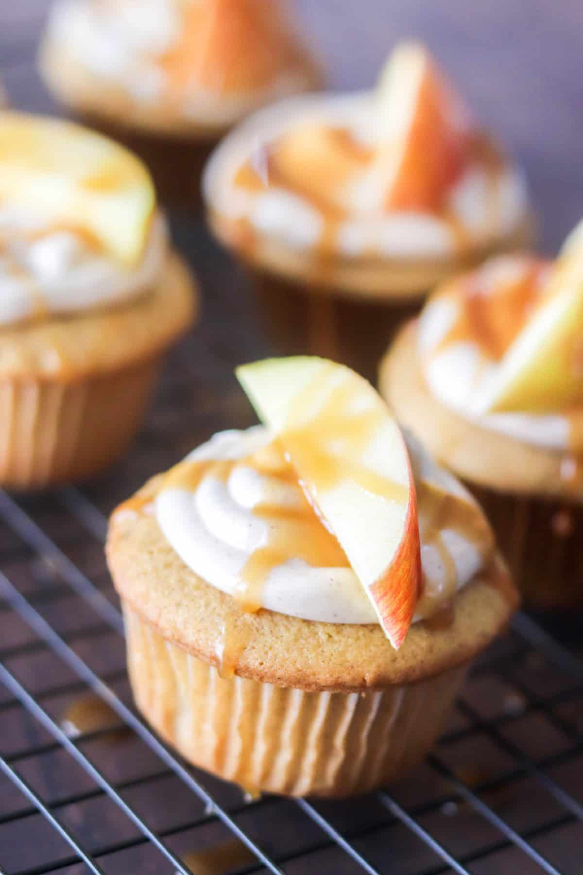 Caramel Apple Spice Cupcakes