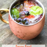 Berry Basil Moscow Mule