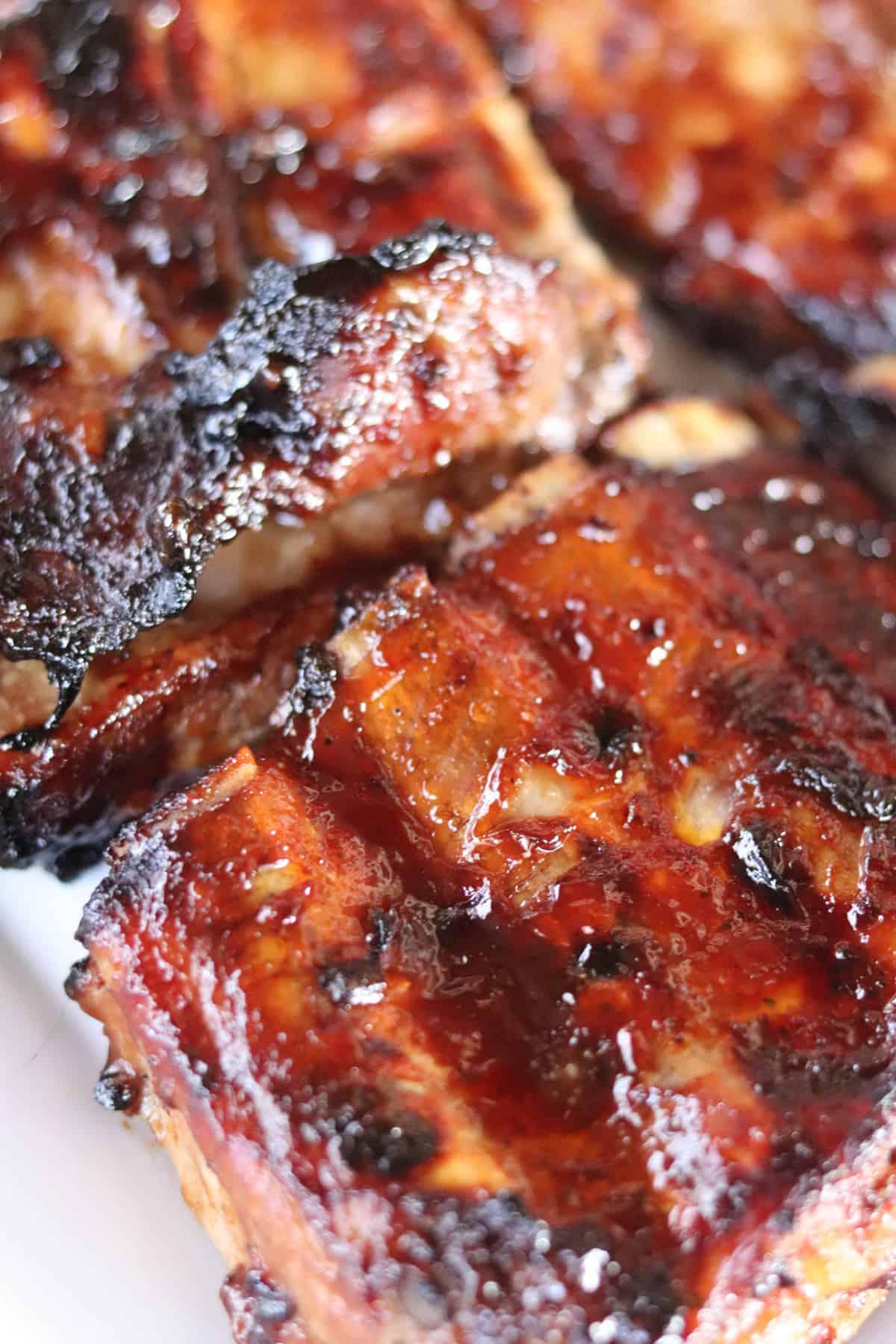 Best Grilled BBQ Pork Ribs