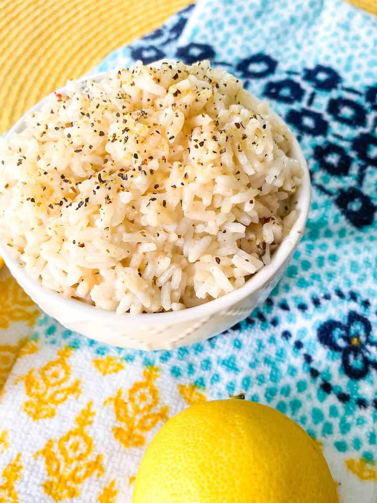 Garlic Lemon Pepper Rice